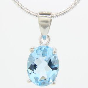 Jewelry - Sterling Silver Genuine Topaz Necklace